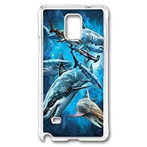 samsung note 4 Case and Cover Shark Collage PC case Cover for samsung note 4 Transparent