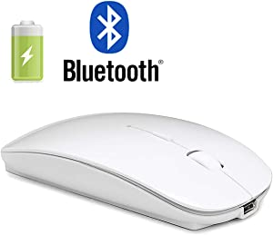Bluetooth Mouse for Mac iPad Laptop Wireless Bluetooth Mouse for MacBook Pro MacBook Air Windows Notebook MacBook ipad (White)