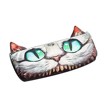 Ouken 1 PCS Caja de lápiz adorables Gatos Bolsa de Plumas/Lápices / Cosmética/Monedas (Gato de Cheshire): Amazon.es: Hogar