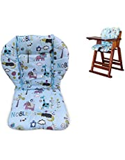 Twoworld High Chair Cushion, Large Thickening Baby High Chair Seat Cushion Liner Mat Pad Cover Breathable (Blue Animal)