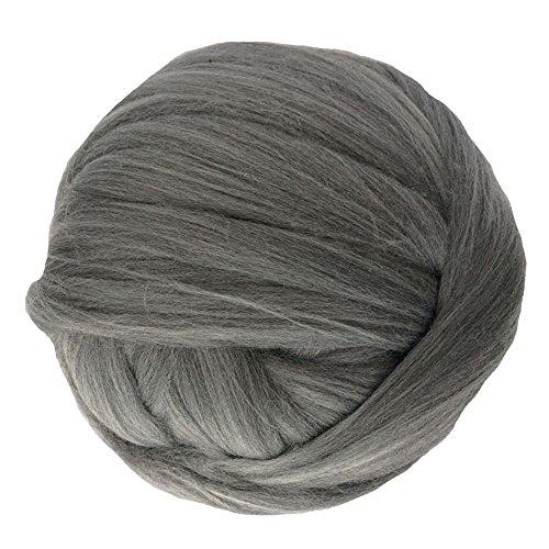Zituop Super Soft Chunky Yarn Bulky Roving for Arm Knitting Blanket, 1.1lb (Dark Grey)