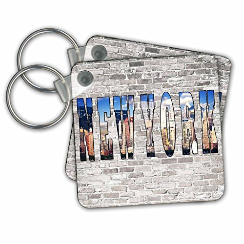 RinaPiro - Cities around the World - New York. City that never sleeps. Brick wall. - Key Chains - set of 6 Key Chains - Soho In Broadway