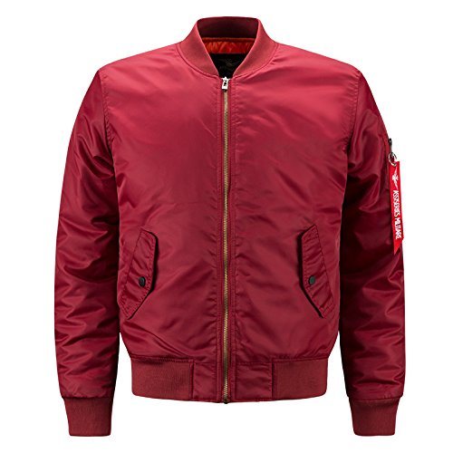 Cresay Men's Sportswear Bomber Jackets Blouson Coats Thick Outwear