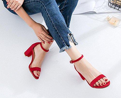 Alto Meili Tacón Para Mujeres Alto Zapatos Sandalias 2 De Punta Con Redondas trFqBr