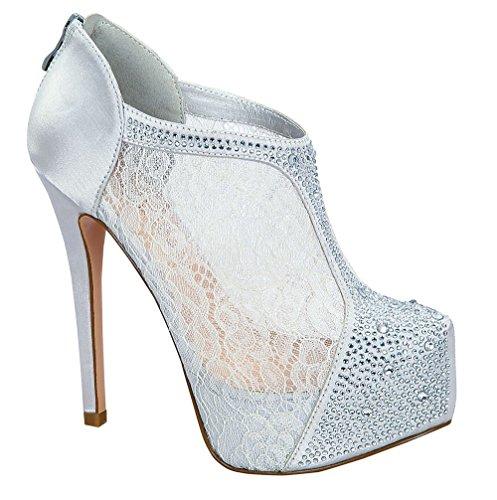 Almond Blossom Toe De Booties Nelson High Silver PumpSexy Collection Dressy Heel Stiletto Round Women's 26x dZqq1xXB