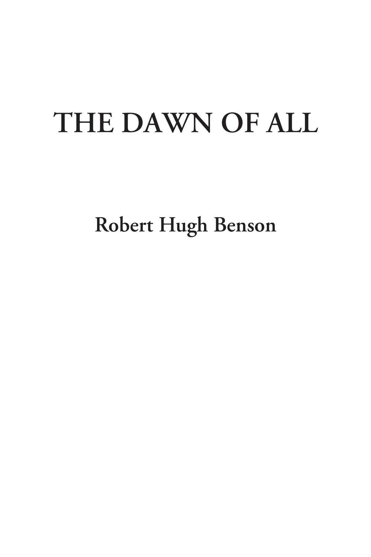 Download The Dawn of All PDF