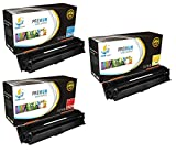 Catch Supplies 307A CMY 3 Pack Premium CE741A CE742A CE743A Replacement Toner Cartridge Compatible with HP Color LaserJet Professional CP5225 series Laser Printers |Cyan, Magenta, Yellow|