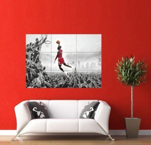 MICHAEL JORDAN NBA SLAM DUNK HUGE GIANT PICTURE POSTER ART JM072 Doppelganger33LTD