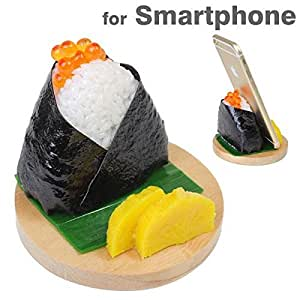 Delicious Food Stands for Smartphone (Onigiri / Salmon Roe)