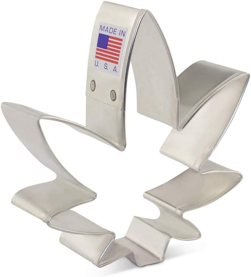Cortador de galletas Marihuana de 8,89 cm – Ann Clark – Fabricado en Estados Unidos de acero