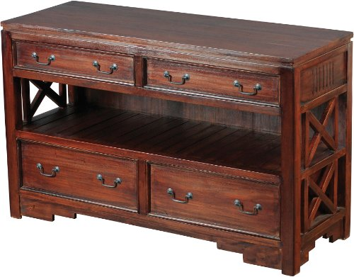 Sterling 6500825 Galloway Wood Media Cabinet, 30-Inch, Mahogany Stain