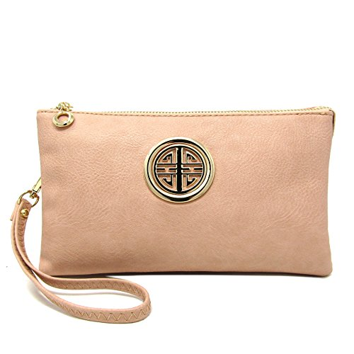 With Blossom Detachable Wristlet Compartment Bag Functional Crossbody Pink Womens and Emblem Solene Girls Multi q7ZzTxnwf