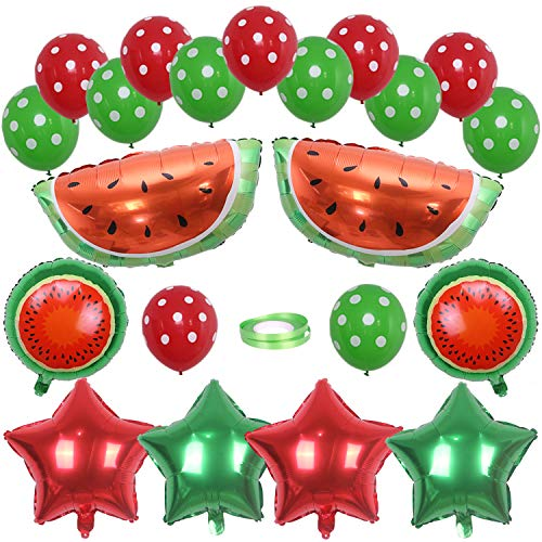 ONINIT Watermelon Party Decoration Water Melon Balloons for Kids Birthday Party Baby Shower Supplies (Watermelon Inflate)