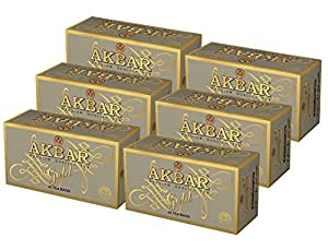 Akbar | Gold Range | Premium Quality Ceylon Black Tea | 100% Single Origin | 50 Count String & Tag Teabags | Pack of 6