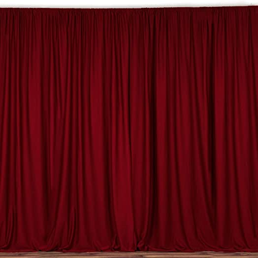 lovemyfabric 100 Polyester Window Curtain Stage Backdrop Curtain Photography Backdrop 58 Inch X 108 Inch 2, Cranberry