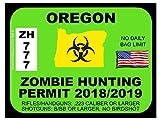 Oregon Zombie Hunting Permit (Bumper Sticker)