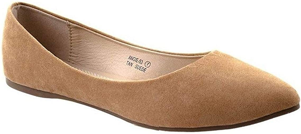 Bella Marie Angie-53 Women's Classic Pointy Toe Ballet Slip On Flats Shoes