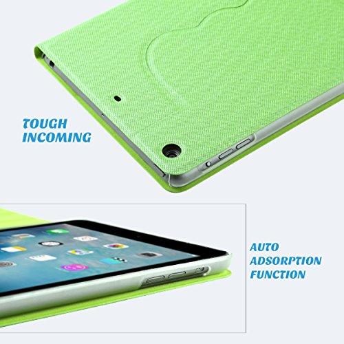 ULAK Ultra Slim 360 Rotating Smart Sleep / Wake Stand Case for Apple iPad Mini 1 / 2 / 3 - Green Photo #6