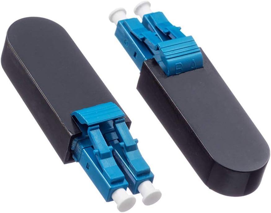 2-Pack Single Mode SC//UPC Fiber Optic Loopback Adapter Cable Singlemode 9//125 Test Plug for Testing Applications