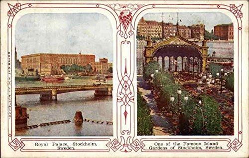 Vintage 1 Garden (Royal Palace & one of the famous Island Gardens Stockholm, Sweden Original Vintage Postcard)