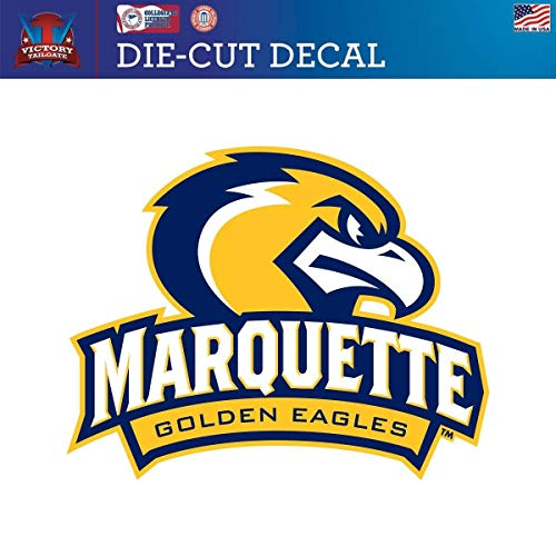 Victory Tailgate Marquette University Golden Eagles Die-Cut Vinyl Decal Logo 1(12 Inch)