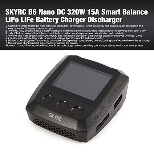 Wikiwand SKYRC B6 Nano DC 320W 15A Smart Balance LiPo Life Battery Charger Discharger by Wikiwand (Image #1)