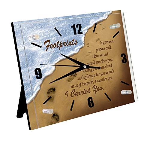 Ebony Treasures Footprints in The Sand Clock