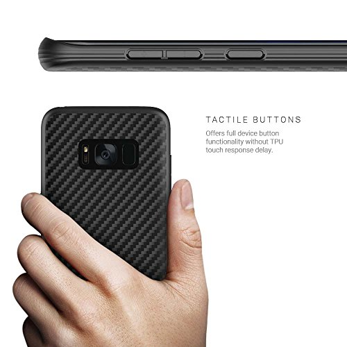 Evutec AER Série Chute militaire résistant aux rayures en Kevlar Coque pour Galaxy S8Plus–Noir