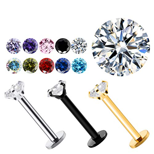 Colors Stainless Steel Crystal Nails Navel L Shape Body Piercing Belly Button Ring Women Jewelry Belly olive green style 2-black