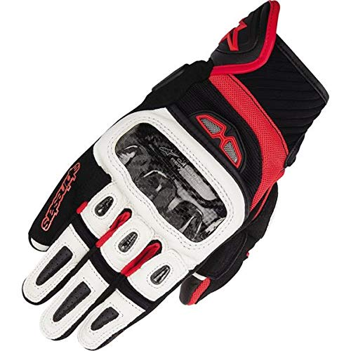 Black/White/Red Sz M Alpinestars GP-Air Vented Leather Motorcycle Glove