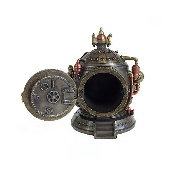 Steampunk Time Machine Clock & Trinket Box Statue 4