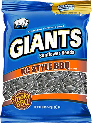 (GIANTS Sunflower Seeds BBQ Flavor, 5-Ounce Bags (Pack of)