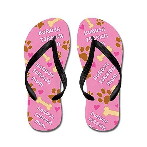Infradito Regalo Per Mamma Border Terrier Flip Flop - Infradito, Sandali Infradito Divertenti, Sandali Da Spiaggia Neri