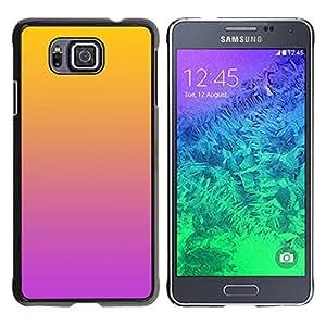 Be Good Phone Accessory // Dura Cáscara cubierta Protectora Caso Carcasa Funda de Protección para Samsung GALAXY ALPHA G850 // Gradient Colors Orange Pink Purple