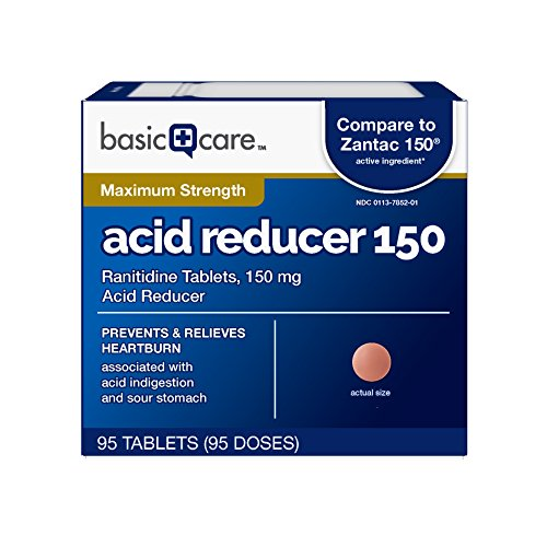 Basic Care Acid Reducer Ranitidine Tablets, 95 Count for sale  Delivered anywhere in USA