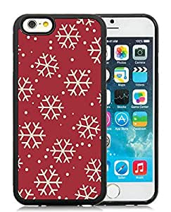 Individualization iPhone 6 Case,Christmas Snowflake Black iPhone 6 4.7 Inch TPU Case 12