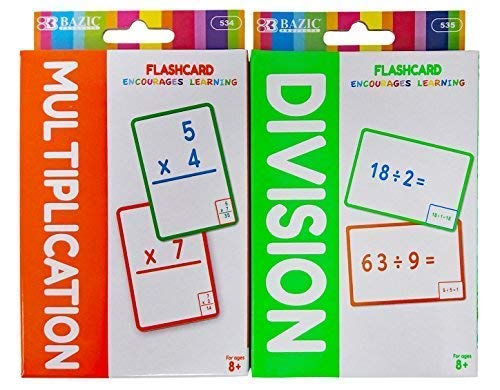 Flash Cards Multiplication and Division. Plus Free Bonus One Retractable 4 in 1 Ballpoint Pen or 2 in 1 Mechanical Pencil. ()