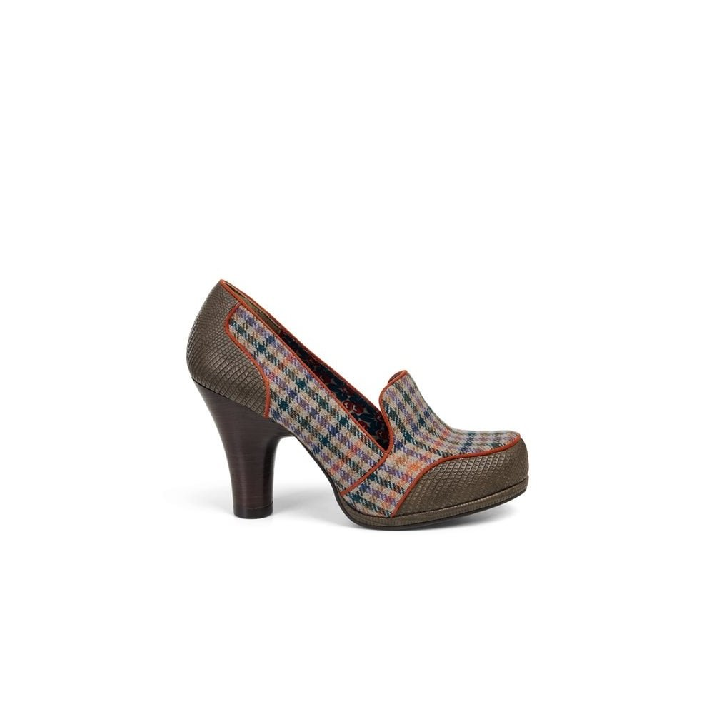 Ruby Shoo Rockabilly KAYLEE Houndstooth Vintage Wool Classic Retro PUMPS Rockabilly Shoo 8a65a1