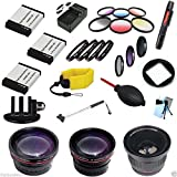 SAVEoN package for the GoPro Hero 2 Red Line Series 1 Everything You Need Holiday Bundle27 Pieces