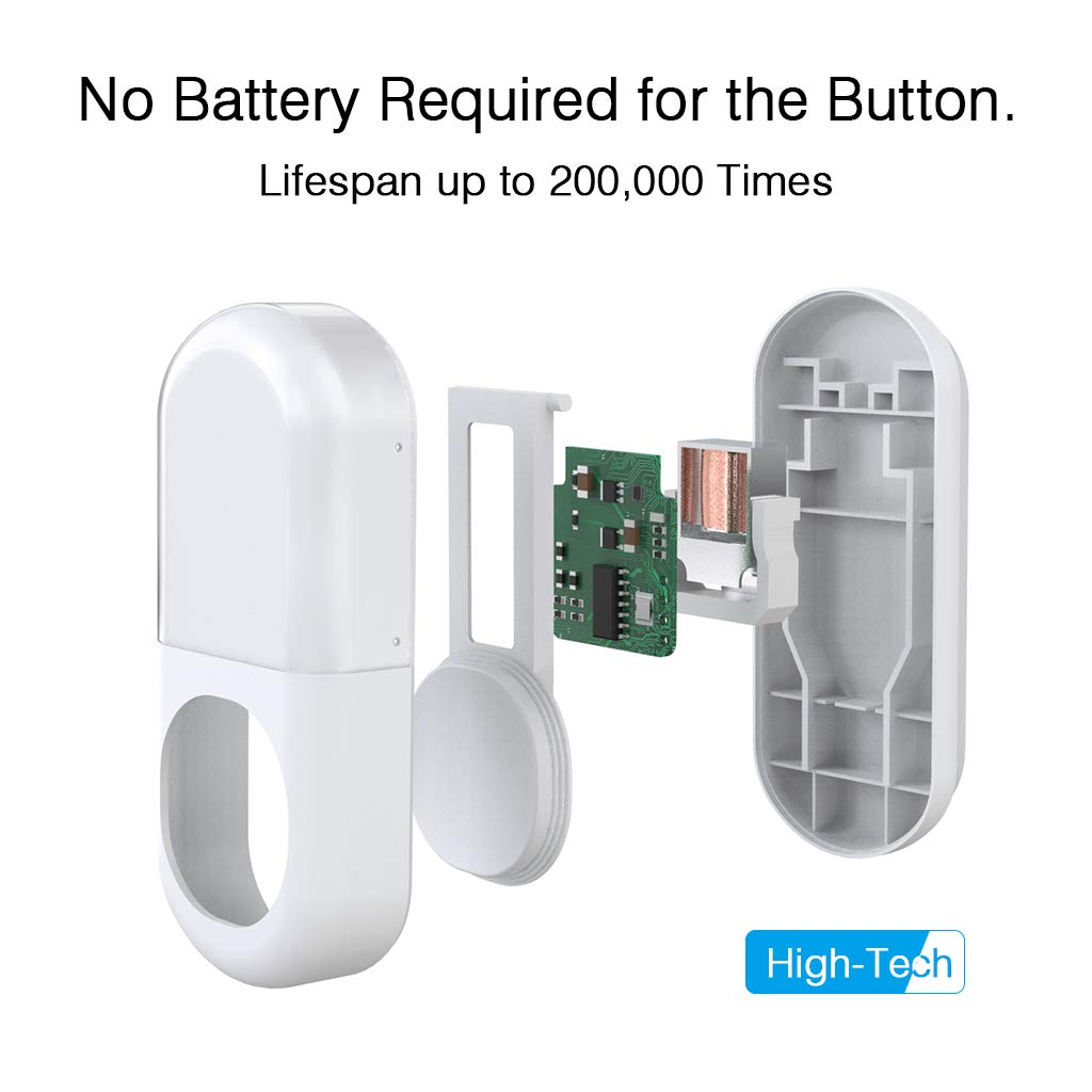 ZIGLINT Wireless Doorbell, No Batteries Required, IP55 Waterproof Door Bell Operating at over 500-feet Range, Door Chime Kit with 2 Receivers, 58 Chimes and 4 Adjustable Volume Levels, White by ZIGLINT (Image #3)