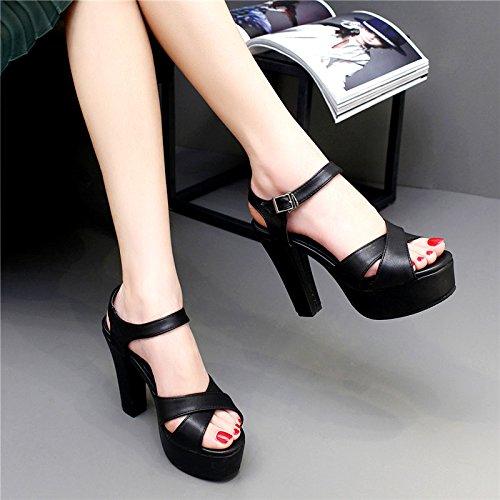 mostra bocca scarpe tallone con scarpe Giardini Sandali 11cma Pesce spessore schwarz sottile Stand grandi scarpe impermeabili 8Enwxvq1d