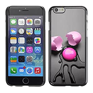 PC/Aluminum Funda Carcasa protectora para Apple Iphone 6 Pink Egg Abstract / JUSTGO PHONE PROTECTOR