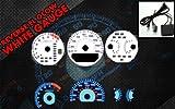 Brand New White Face Blue Indigo Reverse Glow Gauges For 99-03 Acura TL (I-204)