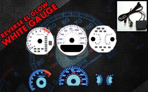Acura Tl Gauges - Brand New White Face Blue Indigo Reverse Glow Gauges For 99-03 Acura TL (I-204)