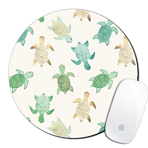 (Royal Up Turtle Custom Mouse Pad Gaming Mat Keyboard Pad Waterproof Material Non-slip Personalized Round Mouse pad (7.8x7.8x0.08Inch))