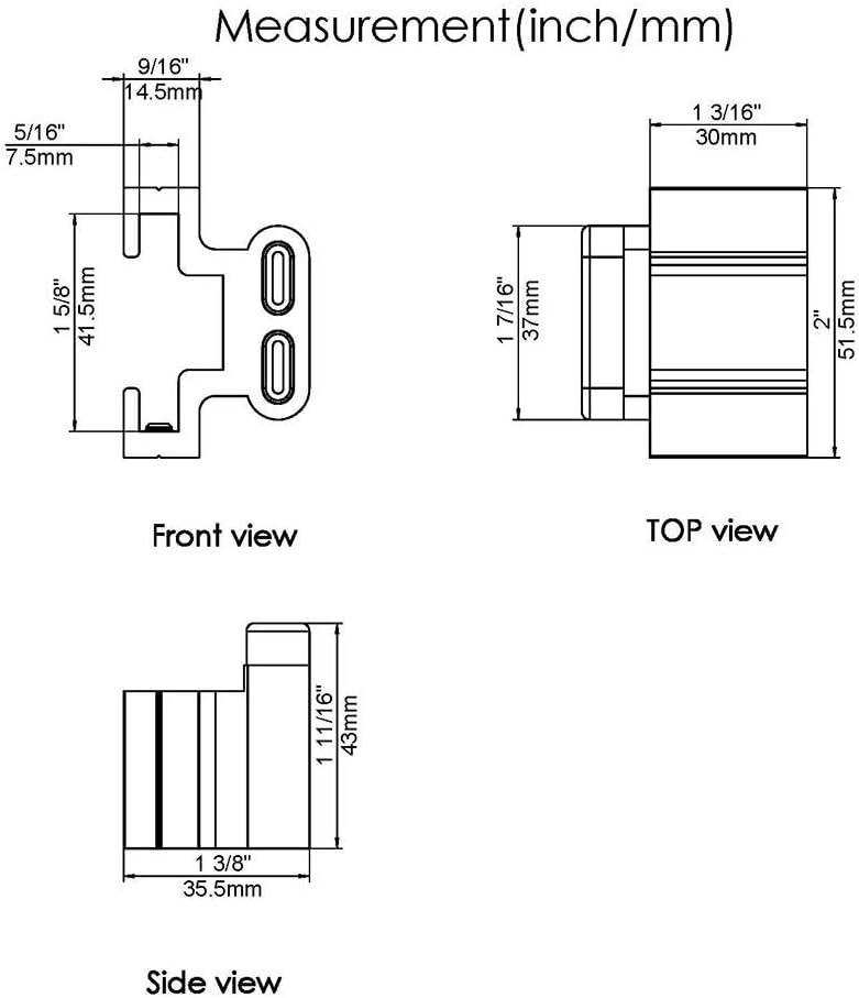 Topes para puerta corredera de 2 puertas, color negro mate, para riel plano de 3,81 cm de ancho, 0,63 cm de grosor, intermedio: Amazon.es: Bricolaje y herramientas