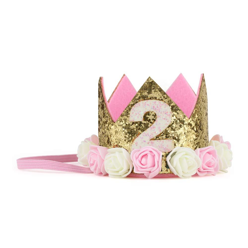 IMagitek Baby Boy 1 2 Birthday Crown Hat 6 Month Party Headband