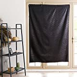 TOGRAND Blackout Curtain Temporary Portable Blinds Adjustable Size with Suction Cups Provide Sleepy Environment at Home or Trip Nap Time for Baby, Kid, Day Sleeper (BLACK-LEAF, 52x72inch,1pc) For Sale