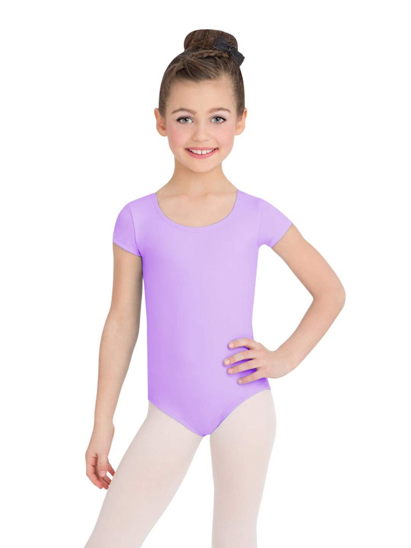 Capezio Short Sleeve Leotard - Girls - Size Child Small, Vibrant Violet