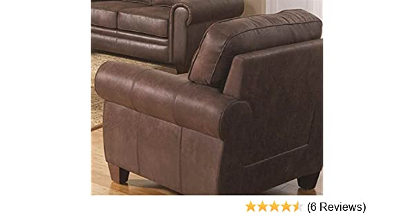 Delicieux Amazon.com: Coaster Allingham Traditional Brown Chair With Microfiber  Upholstery: Kitchen U0026 Dining